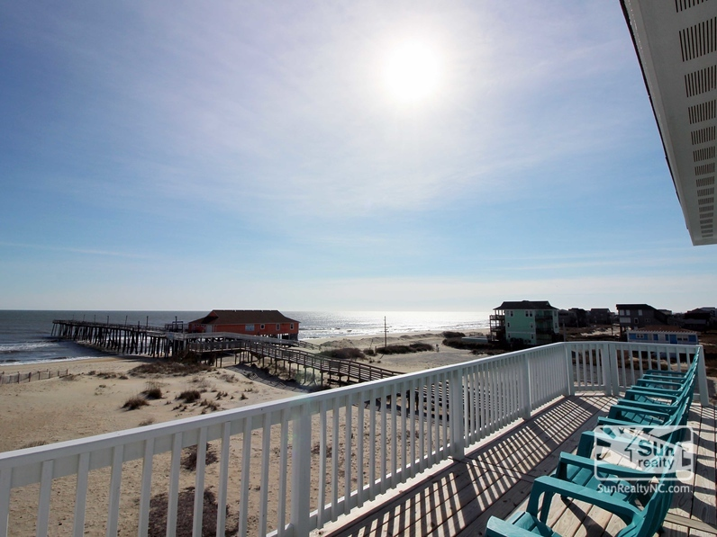 Oceanfront Deck w/ View of the Rodanthe Pier