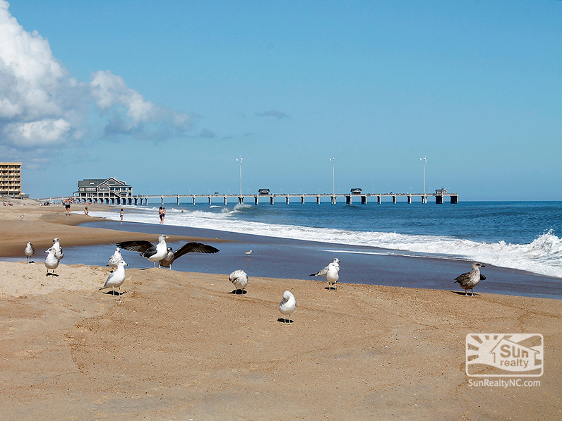 View of Jennettes Pier from Beach