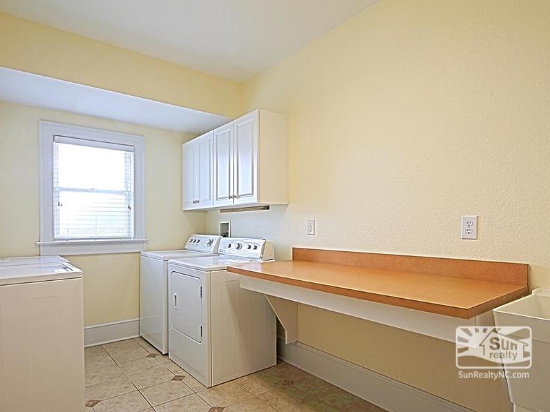 Ground-Level Laundry Room