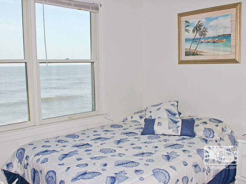 Full Size Bed with Ocean Views