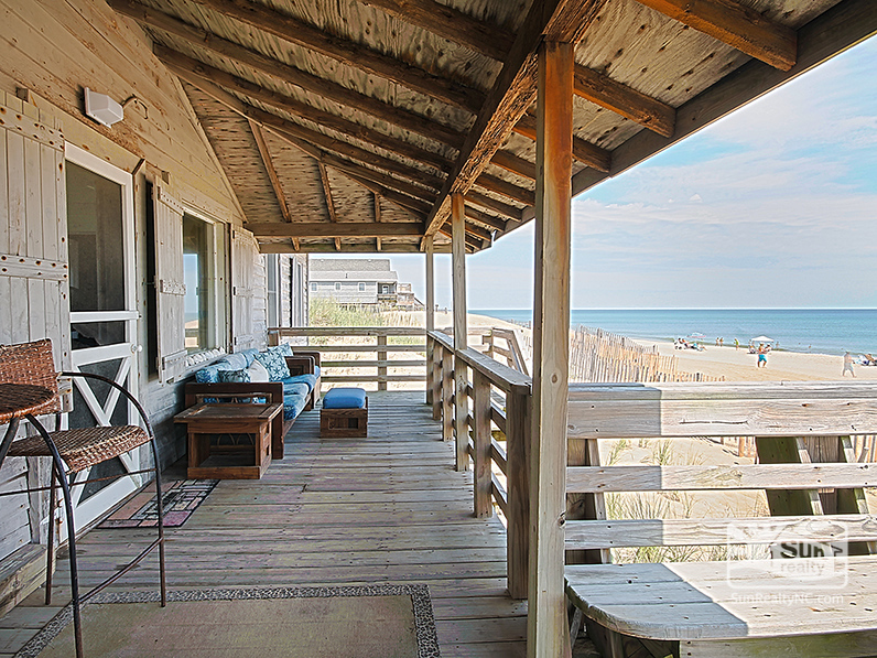 Back Deck with Seating and Ocean Views